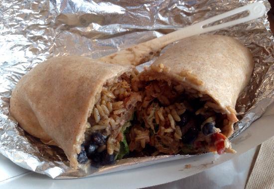Two Rivers Burrito Co.: Standard burrito - whole wheat wrap!