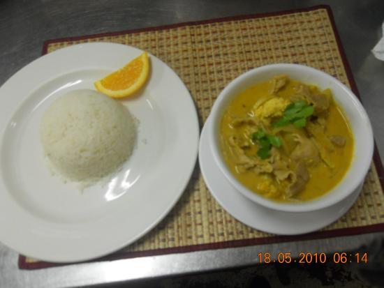 Baan Thai Restaurant: Curry and jasmine rice