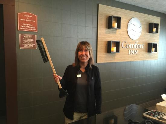 Comfort Inn Traverse City: Comfort Inn - Front Desk - Free Ice Scrapper - Brush