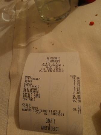 Il Gambero : prezzo ok se la qualità era uguale. .in qst caso soldi rubati! !