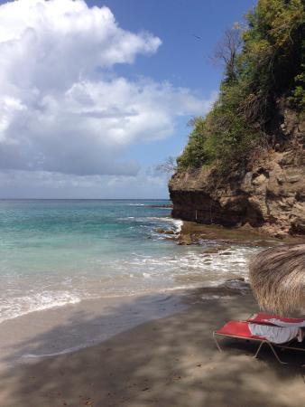Cap Estate, St. Lucia: At the beach
