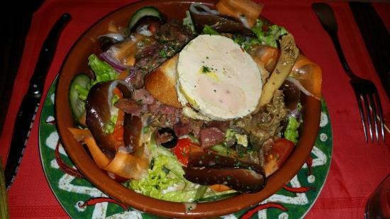 Casa bonita : Salade Gersoise très copieuse et délicieuse