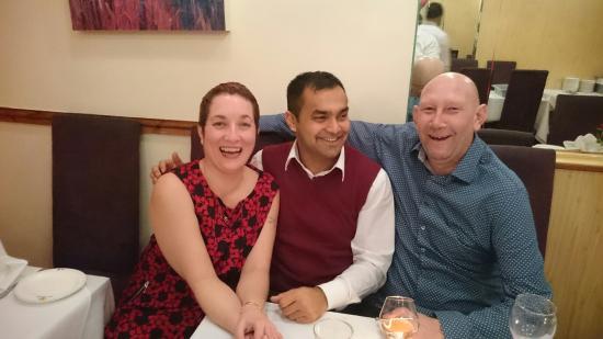Labone Indian Cuisine: With Ishak the manager, lovely man, lovely restaurant.