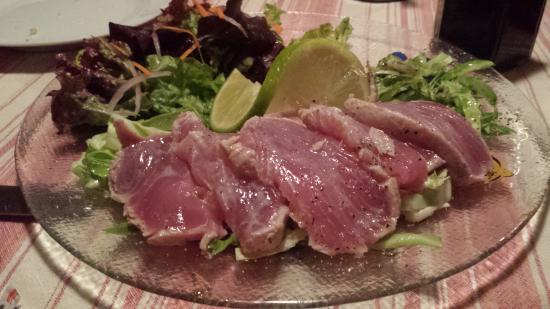 Paolo's Bistro: Ahi Tuna lightly seared