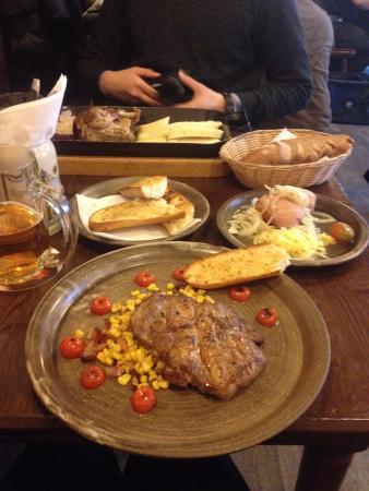 Budvarka: Pork neck and duck.;))