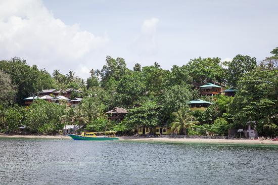 Panorama Diving Resort: Lodge from the sea