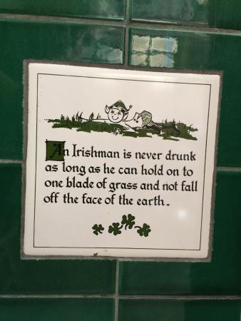 Irish Quotes | Irish Quotes On Tiles Around The Fireplace Picture Of Mcp S Irish