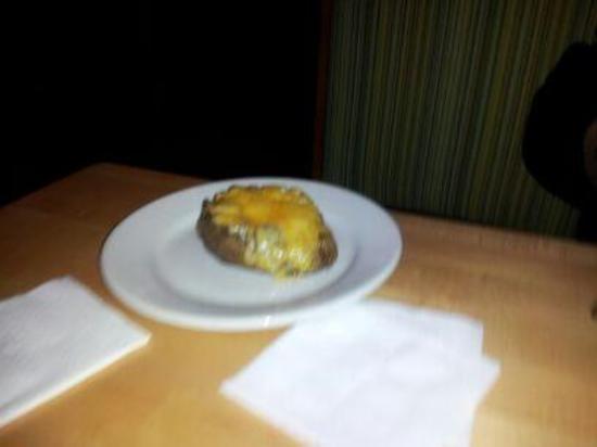 Nick's 22nd Street Steakhouse Restaurant : Microwave Cheese Baked Potatoe