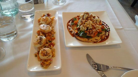 Elizabeth's: Sea Scallop and Warm Bruschetta not to be miss....