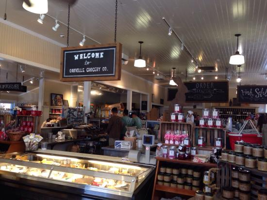 Oakville Grocery: Interior view of the cheese and deli counter
