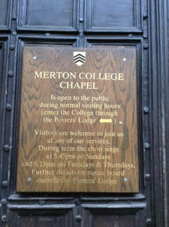 Merton College Tour