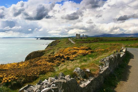 Bunmahon, Irlanda: The rugged coastline of Copper Coast Geopark and the remains of the iconic Tankardstown Mines