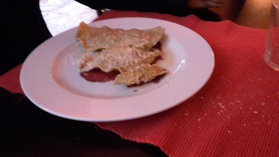 Osteria del Beuc : ravioli di grano saraceno e bresaola