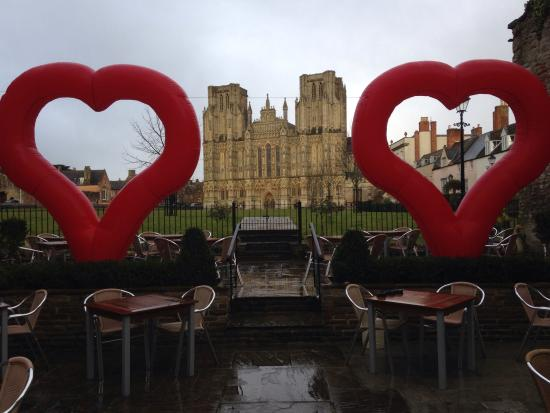 The Crown at Wells: Wells cathedral on valentines