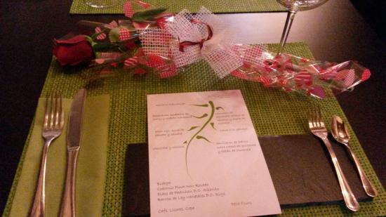 Salgadoiro Gastroteca: Mesa preparada para San Valentín
