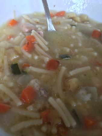 Hotel Duquesa de Cardona: I ordered vegetarian Minestrone...this is what I got!