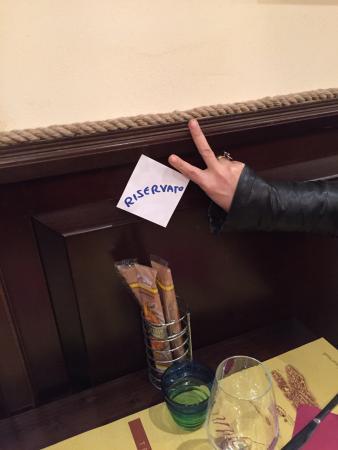 Ai Cugnai: Last table reserved via Tripadvisor on St Valentines day.