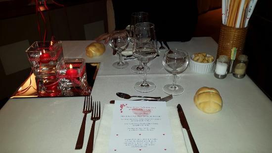 Spa Hotel Parigi 2: Cena san valentino