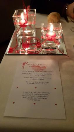 Spa Hotel Parigi 2: Menù san valentino