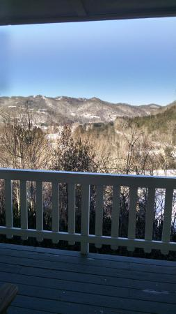 The Inn at Elk River: View from our bottom floor room! Wow!