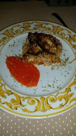 Restaurante El Escribano: Pastel de berenjena