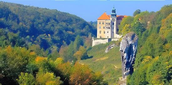 Pieskowa Skala Castle : Widok z drogi dojazdowej