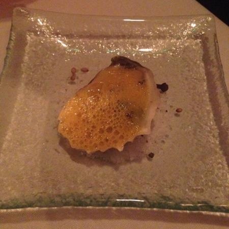 Norman's: Oyster with passion fruit fume