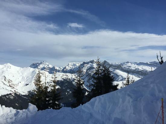 Ski Les Gets : Aiguilles du Midi from Les Gets
