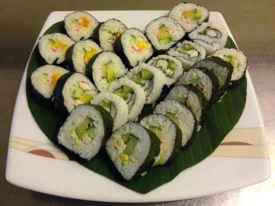 Sawasdee: Sushi served during Valentine dinner were simply delicious.