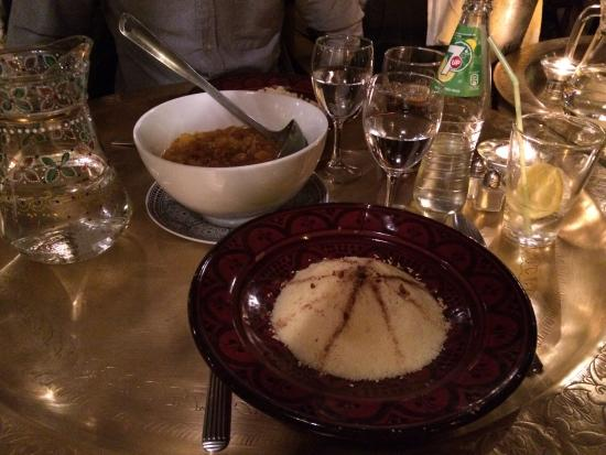 Le Sirocco: Couscous with chickpeas in caramelised onions.....really lovely