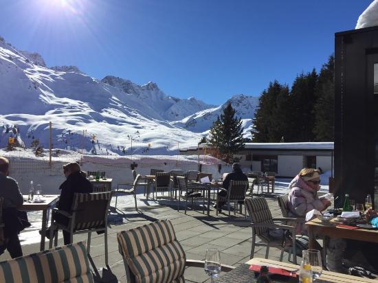Arosa Kulm Hotel & Alpin Spa: Terasse Hotel Kulm Arosa