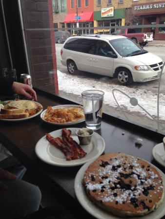 The Nucleus: El presidente, blueberry pancake, bacon and hash browns