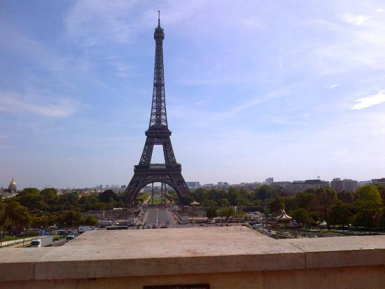 A Distant Tour Eiffel Atop The Trocadero Where Hitler Stood - Best of france tours
