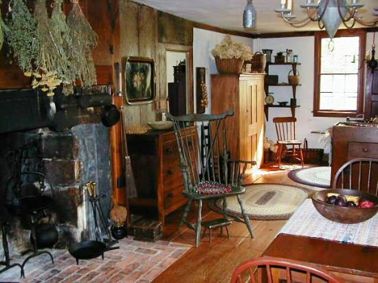 River Bend Farm: kitchen with hearth