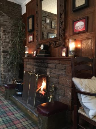 Beautiful log fire which the staff kept topped up with logs for us ��