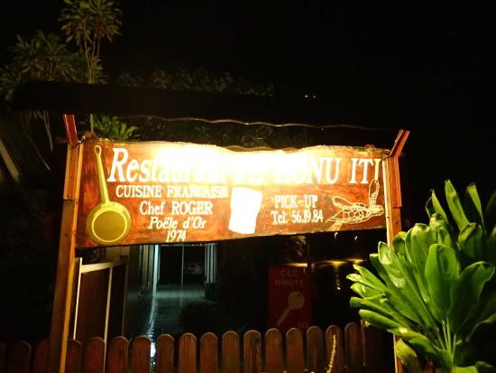 Te Honu Iti: Entrance Sign