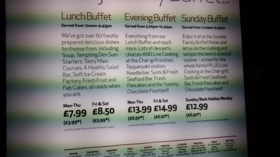 prices and my proof picture of the chinese buffet blackpool rh tripadvisor co nz chinese buffet prices wigan chinese buffet prices huddersfield