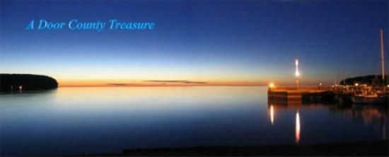 Norrland Resort: Sunsets are stellar from our front lawn on Ellison Bay.