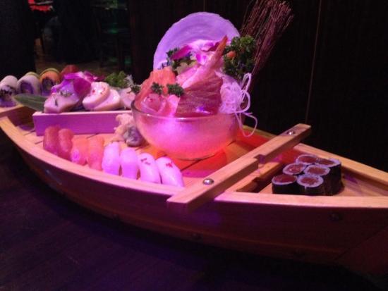 Fuji Sushi & Steak House: Our Valentine Sushi Boat
