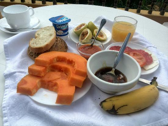 Hotel Jardin Concha : Maravilloso desayuno con unas vistas espectaculares.