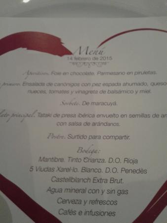 Barcelo Caceres V Centenario: El menú