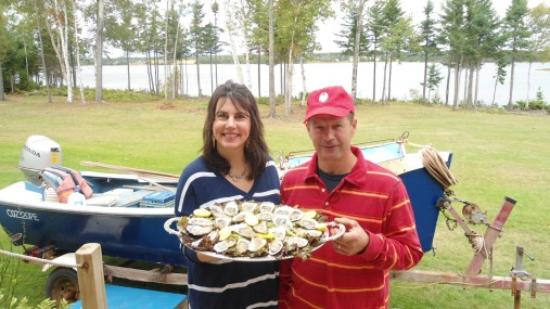 Belfast, Canada : Enjoy all you can eat delicious fresh wild oysters