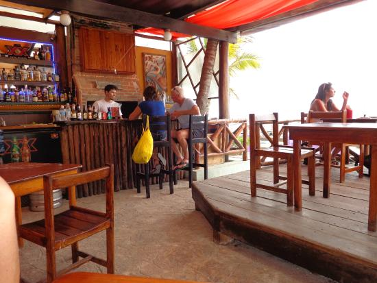 Pangea: the bar, and open to the beach