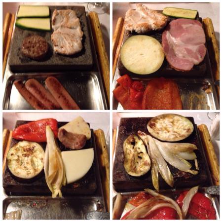 verdura formaggi e carni crude da cucinare con la pietra ollare ... - Cucinare Con La Pietra Ollare