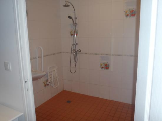 Domaine de l'Hostreiere: Accessible Bathroom with laundry unit