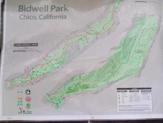 Map Picture Of Bidwell Park Chico Tripadvisor