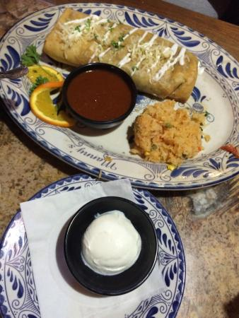 Manny's Cocina: Chimichanga with sour cream