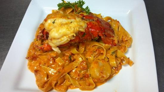 "Francesco's Ristorante Italiano: Lobster in Pink sauce. so decadent, we call it our ""KIng of the Sea"""