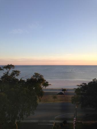 Hampton Inn Biloxi : View from room Gulf of Mexico
