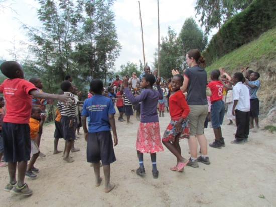 Bunyonyi Overland Resort: recess at the little angels school